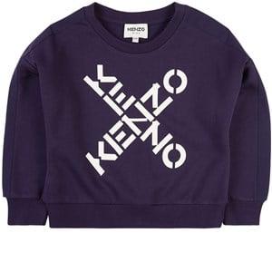 Kenzo Criss Cross Logo Sweatshirt Marinblå 3 år