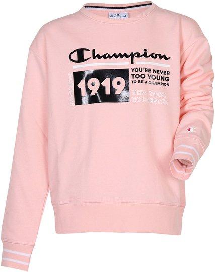 Champion Kids Crewneck Genser, Impatiens Pink XXS