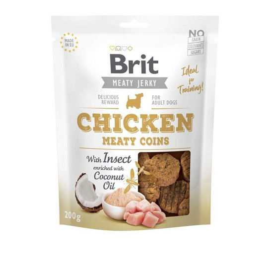 Brit Care Meaty Jerky Coins Chicken Insect (200 g)