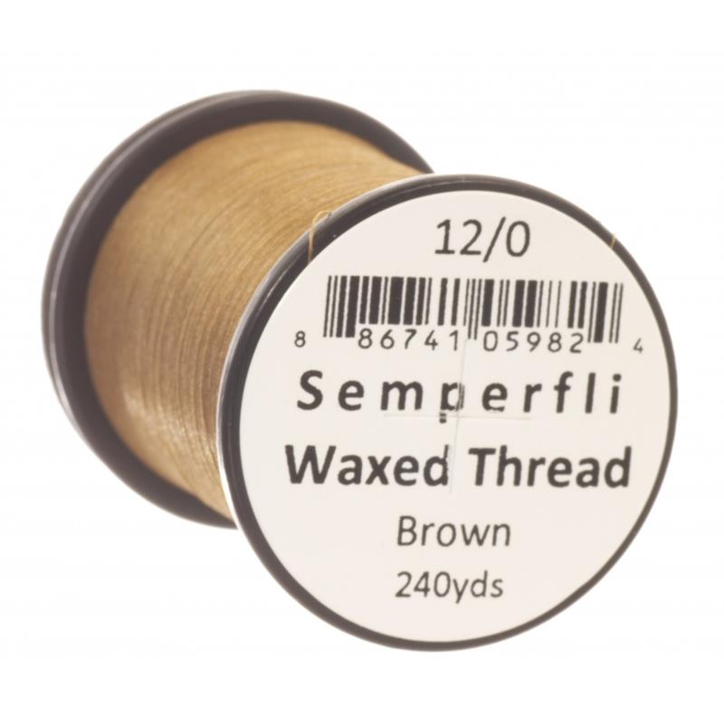 Semperfli Classic Waxed Thread Brown 12/0