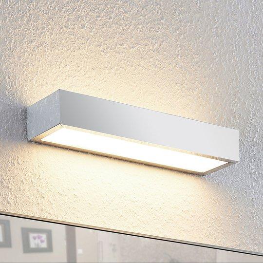 Lindby Layan LED-kylpyhuonevalaisin, kromi, 30 cm
