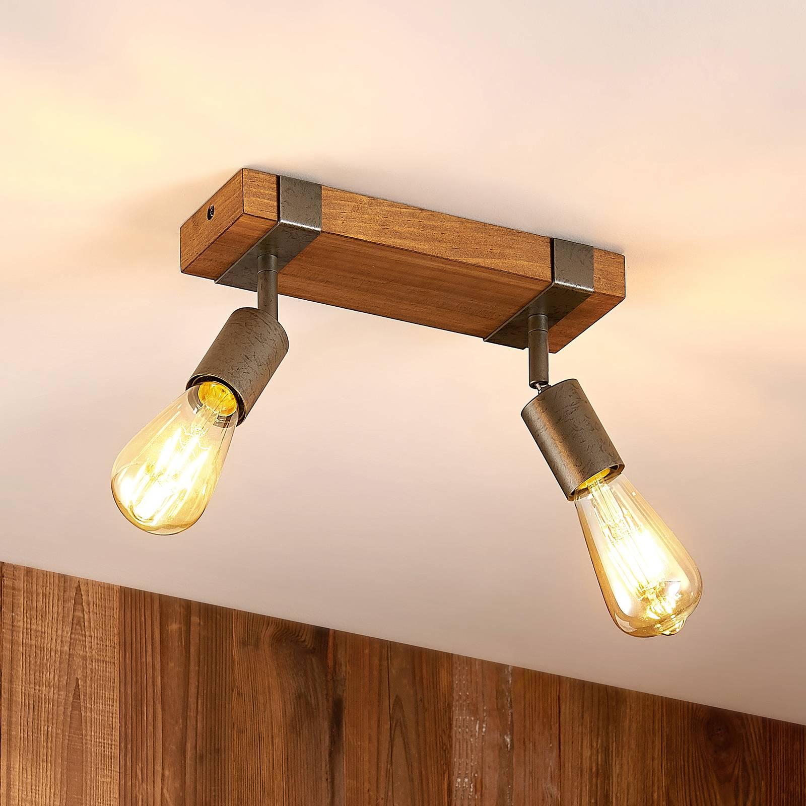 Lindby Quitana -kattospotti kaksilamppuinen