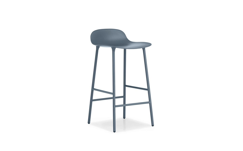Normann Copenhagen - Form Barstool 65 cm - Blue/Steel (602777)