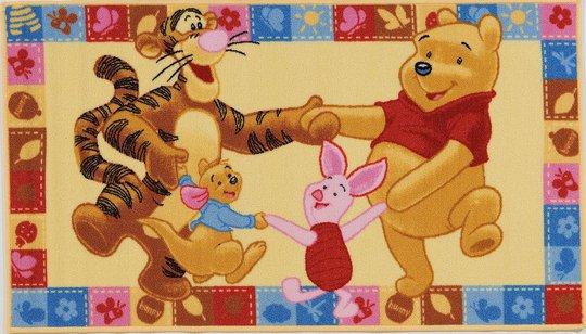 Disney Ole Brumm med Venner Gulvteppe 80x140
