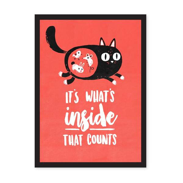 A4 What's Inside That Counts Riso Print