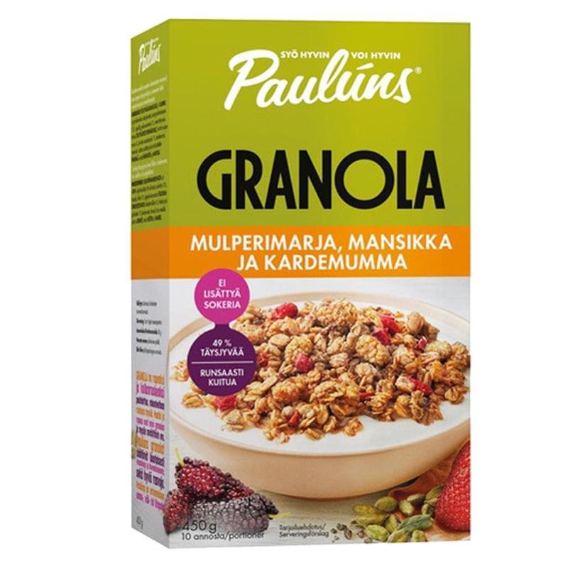 Granola Mulperimarja, Mansikka & Kardemumma - 40% alennus