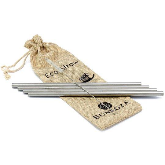 Bunkoza Eco Smoothie Straws, 6 st + Sisalborste