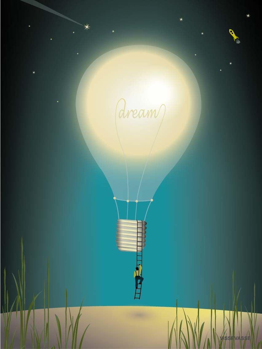 ViSSEVASSE Juliste Dreaming 50x70