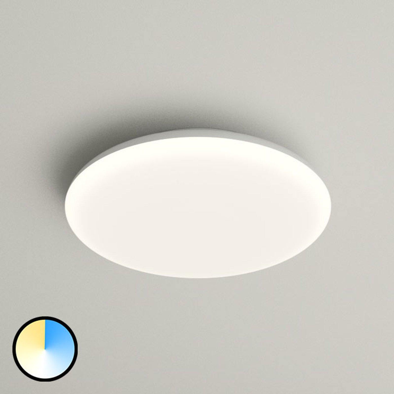 LED-taklampe Azra, hvit, IP54, 25 cm i diameter