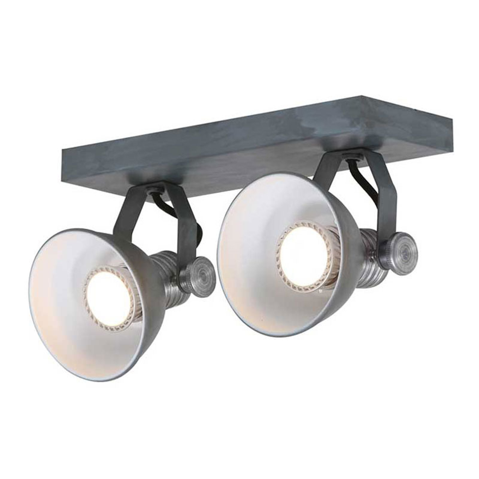 LED-takspot Brooklyn 2 lyskilder, grå