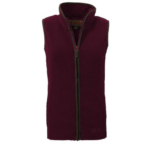 Game Technical Apparel Women's Jacket Various Colours Penrith Gilet - MAROON XS