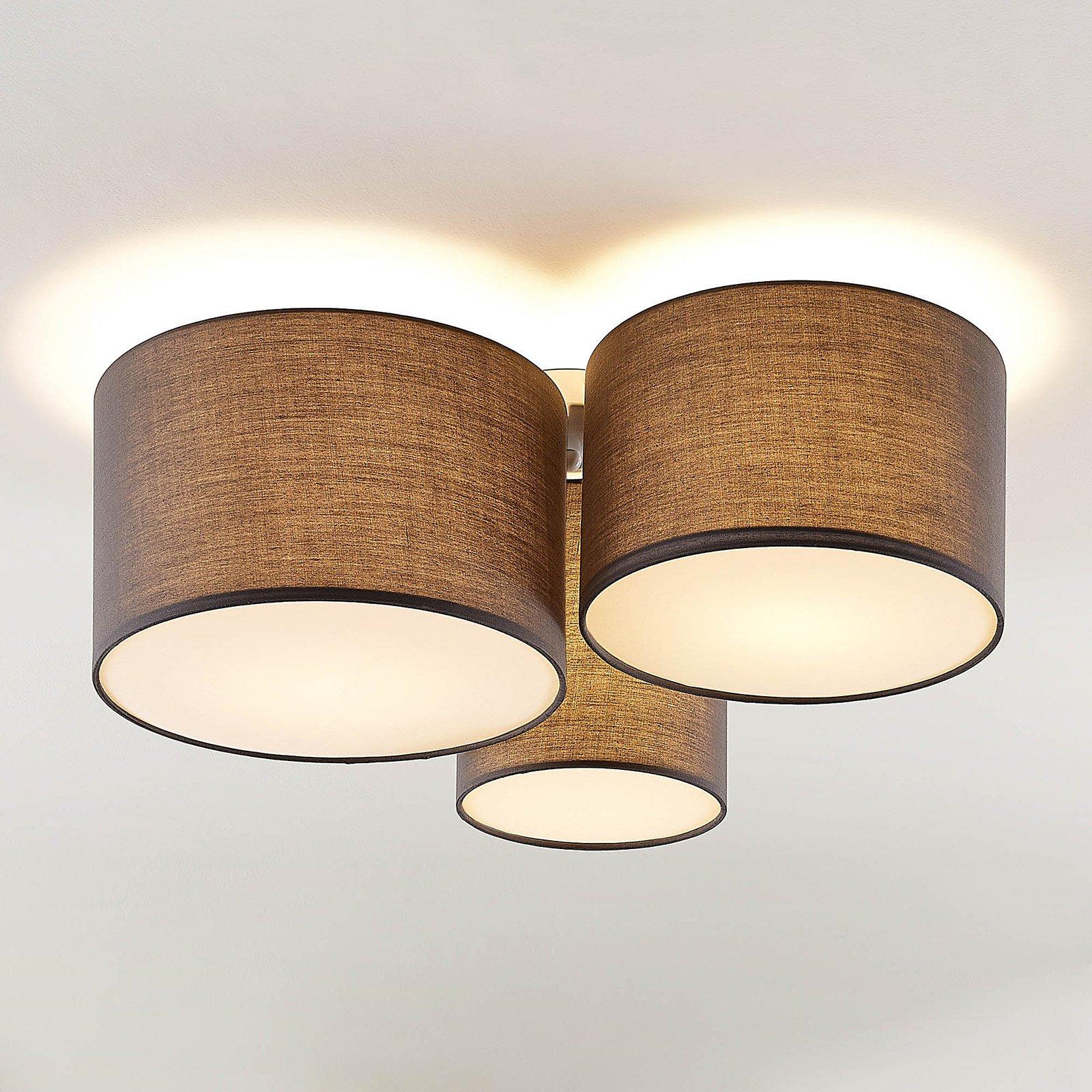 Lindby Laurenz taklampe, 3 lyskilder, grå