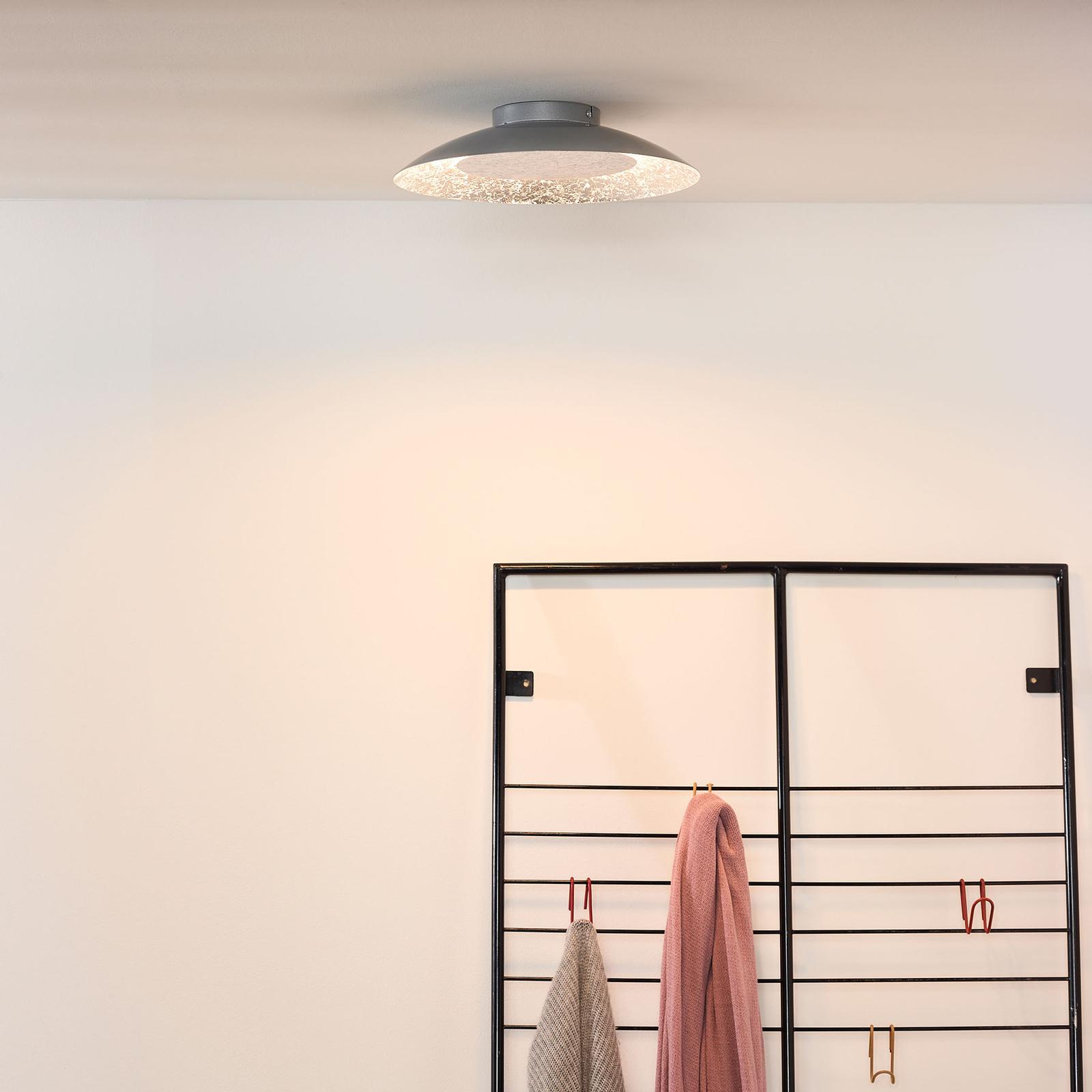 LED-kattovalaisin Foskal, hopea, Ø 34,5 cm
