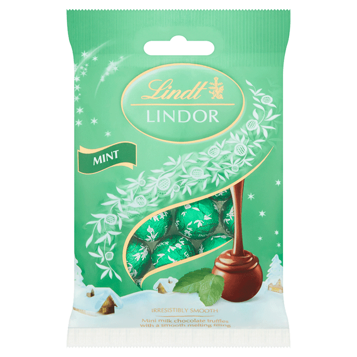 Lindor Mini Truffles Mint 80g
