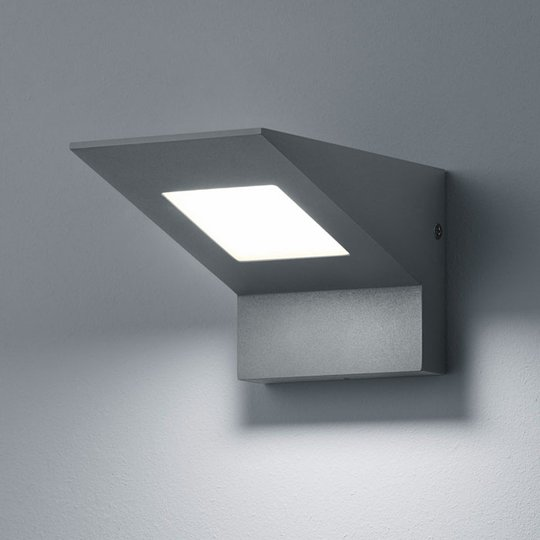 Utendørs LED-vegglampe Nelson, antrasittfarget