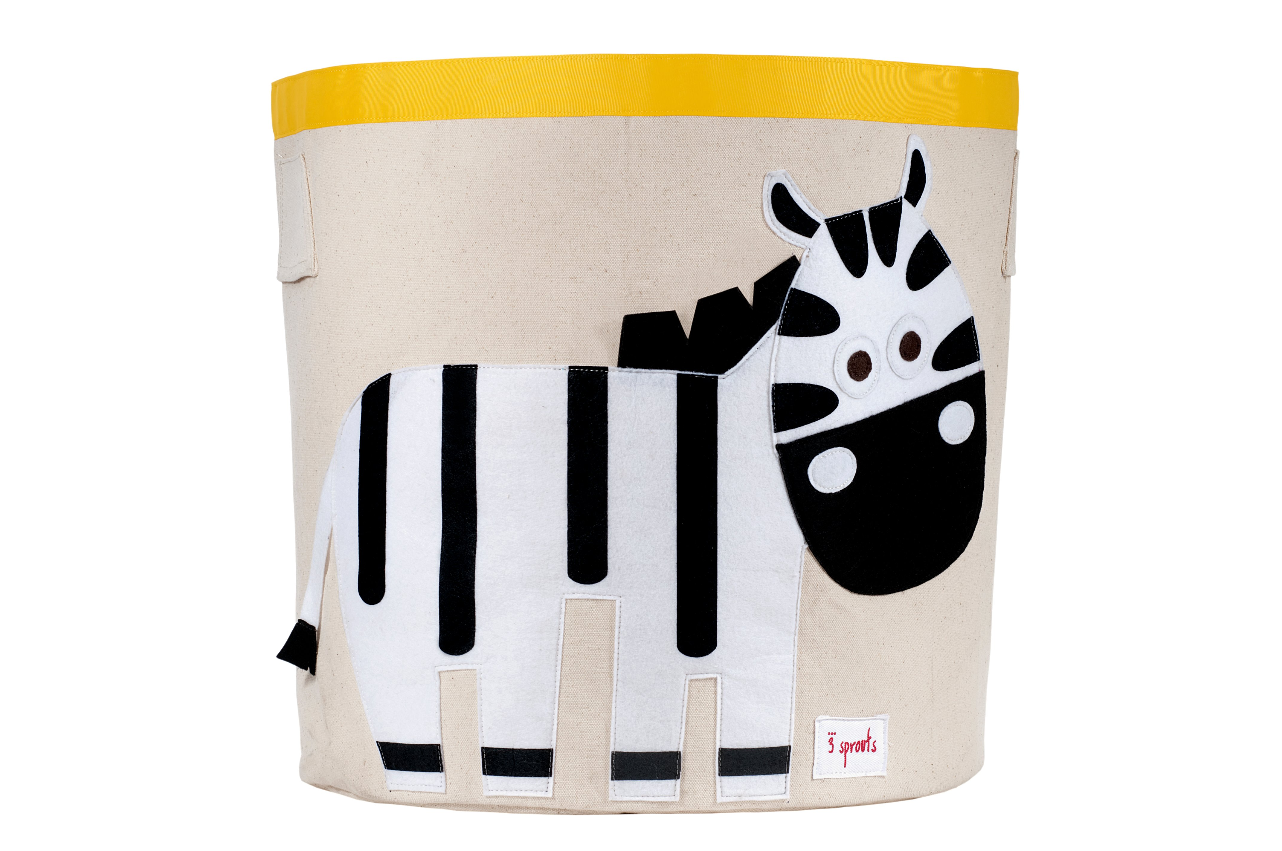 3 Sprouts - Storage Bin - Black & White Zebra