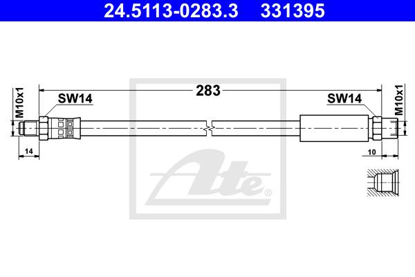 Jarruletku ATE 24.5113-0283.3
