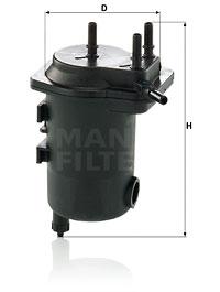 Polttoainesuodatin MANN-FILTER WK 939/12 x