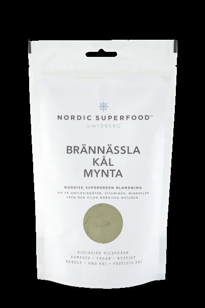 Nordic Superfood - Super Powder Green - Willd Nettle, Organic Greenkale, Peppermint 80 g