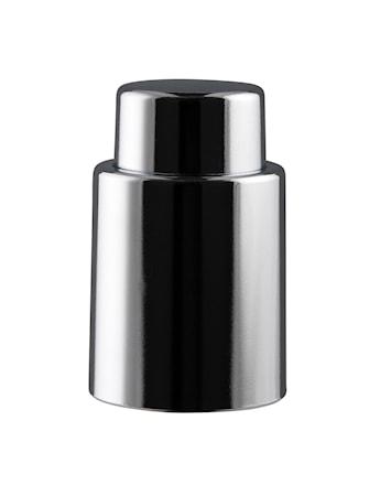 Vinförslutare silver med inbyggd vakuumpump