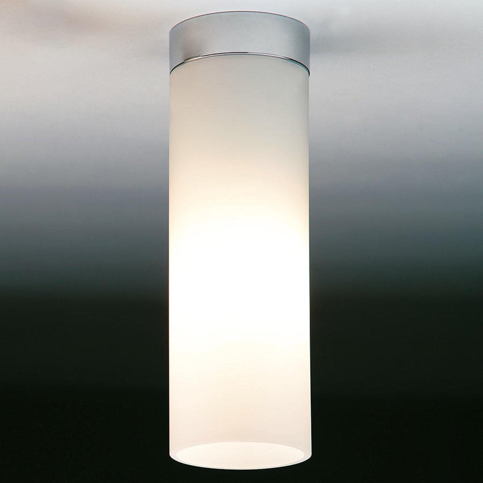 Matthvit taklampe DELA BOX nikkel matt