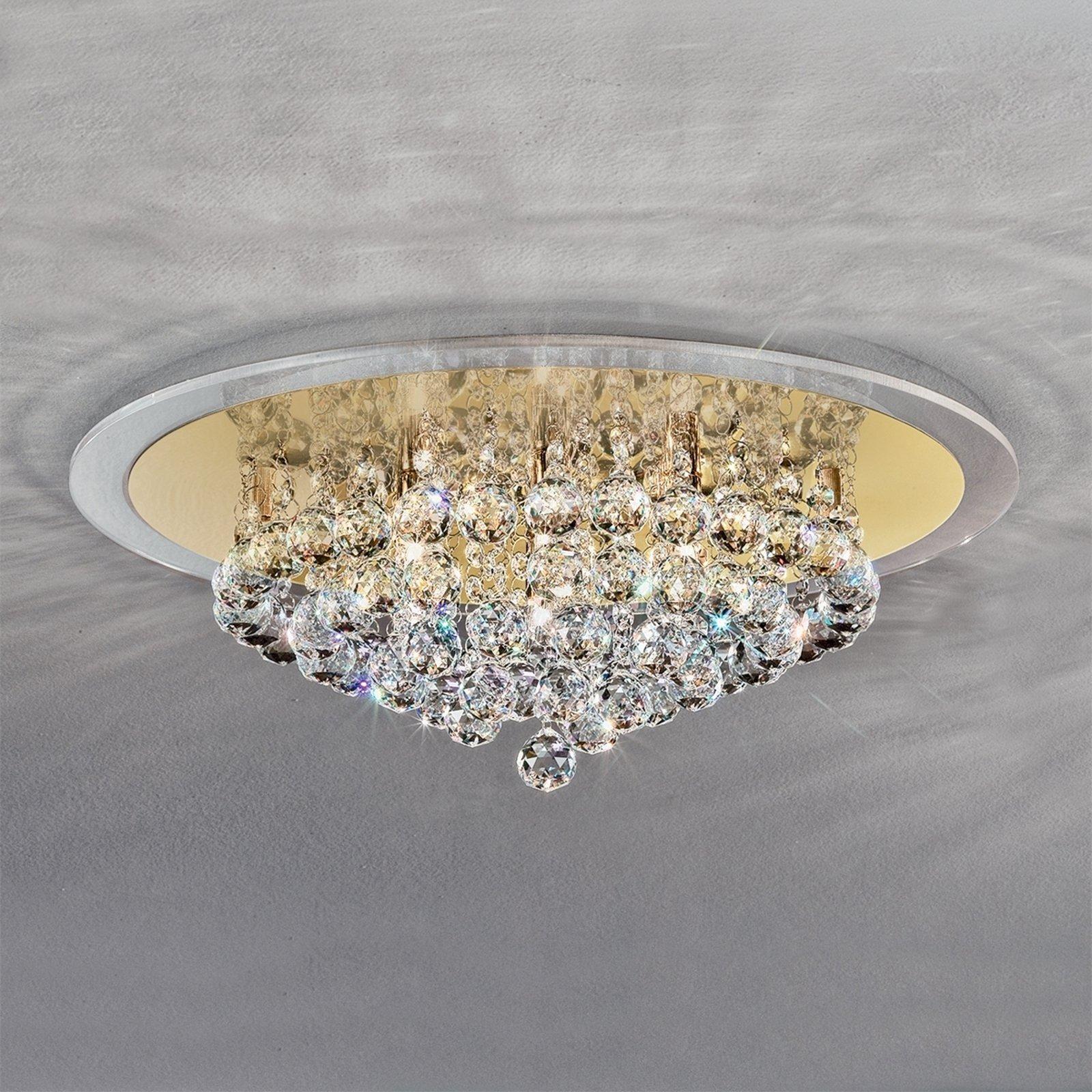 Uttrykksfull TUILA krystall taklampe 50 cm