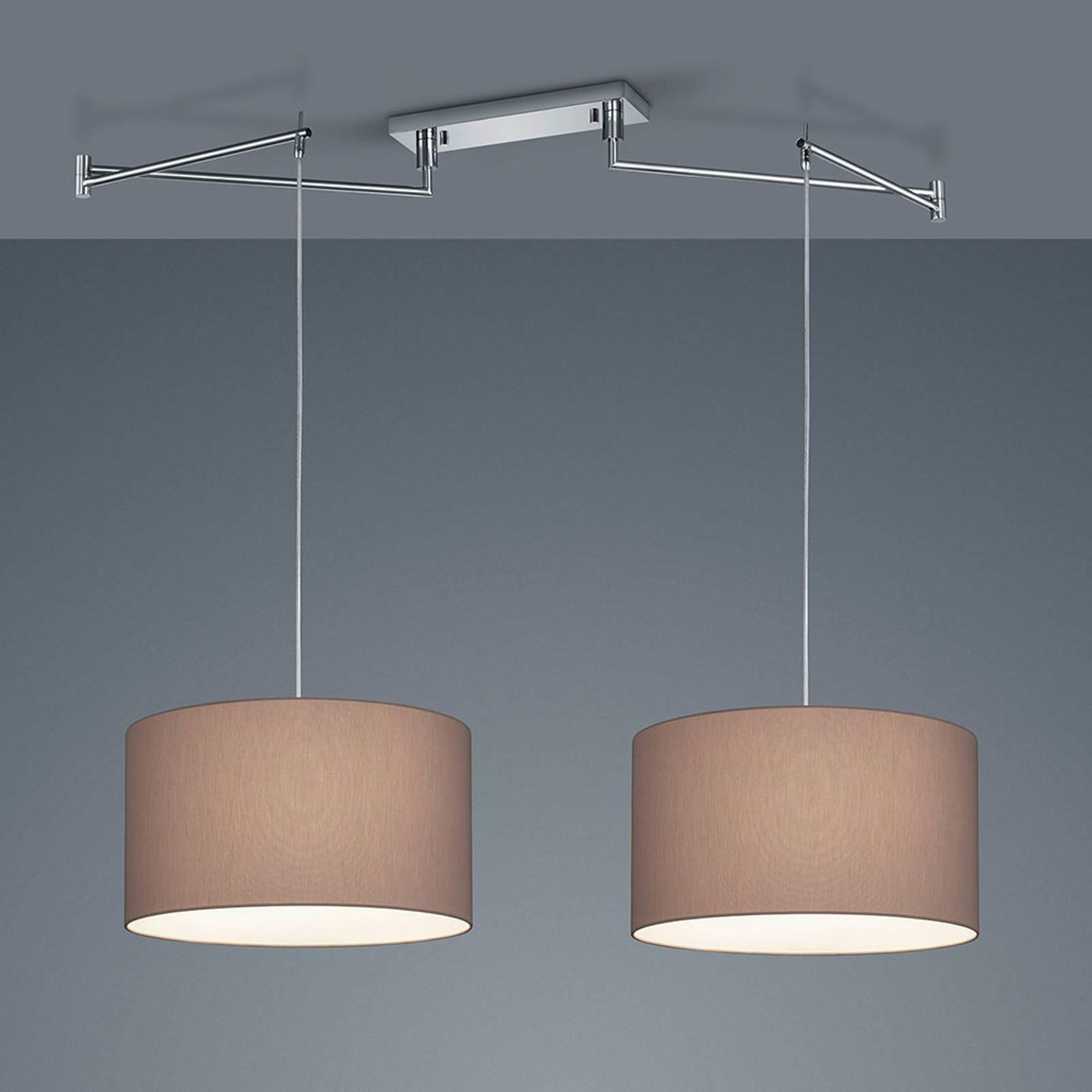 Helestra Certo -riippuvalo lieriö 2-lamp. mocca
