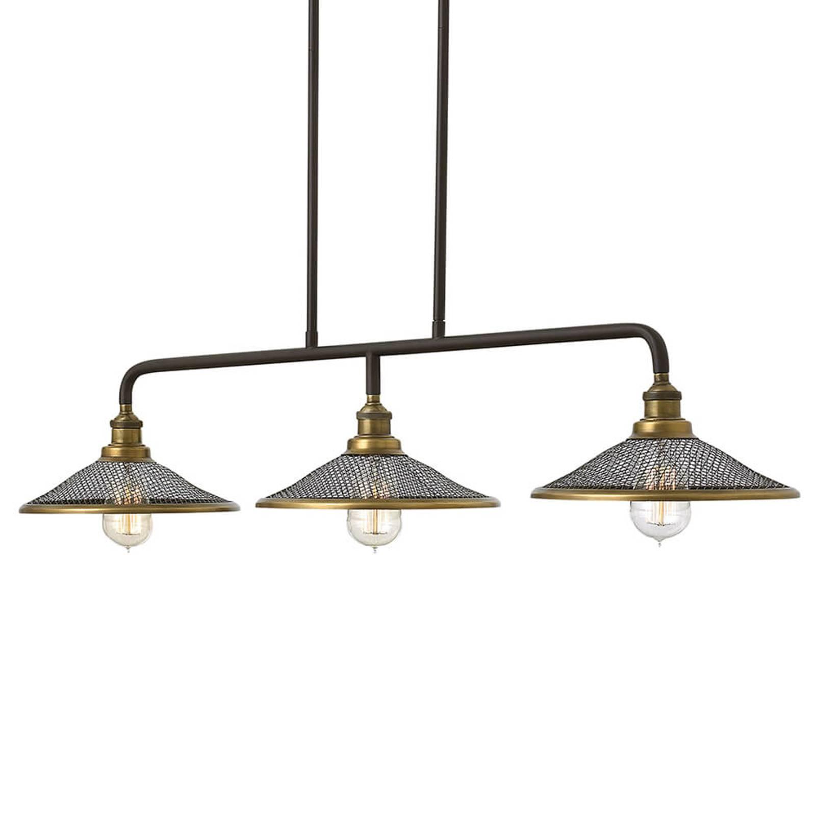 Laajasti valaiseva Rigby-riippuvalo, 3-lamppuinen