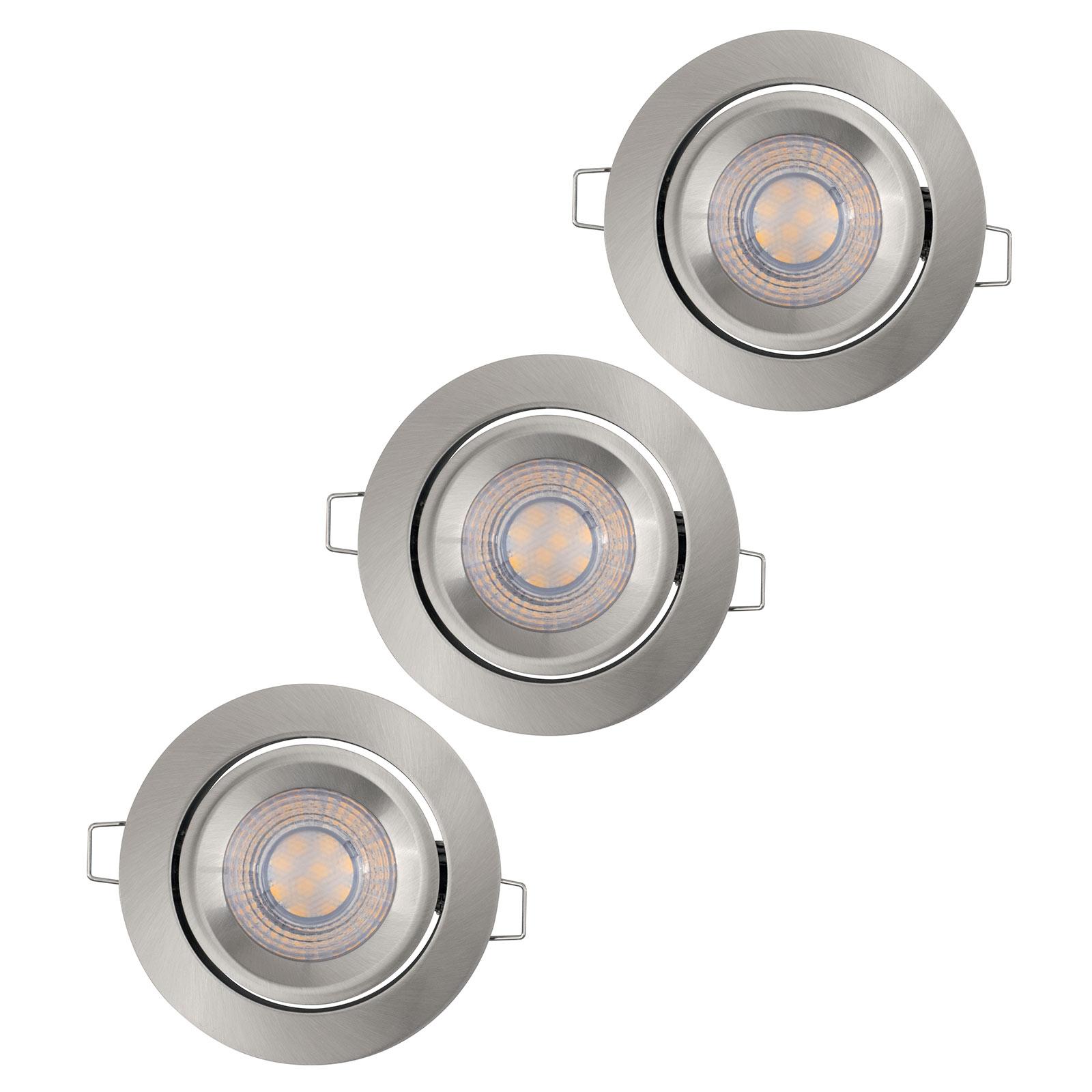 LEDVANCE Simple Dim LED-Spot, 3 kpl alumiini