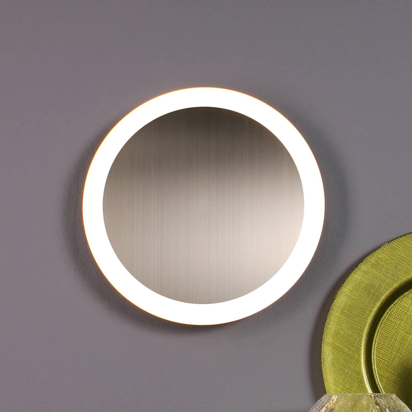 LED-seinävalaisin Moon Ø 30 cm, hopea