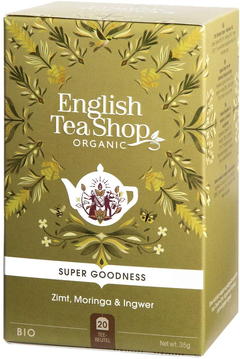 English Tea Shop Super Goodness Cinnamon, Moringa & ginger