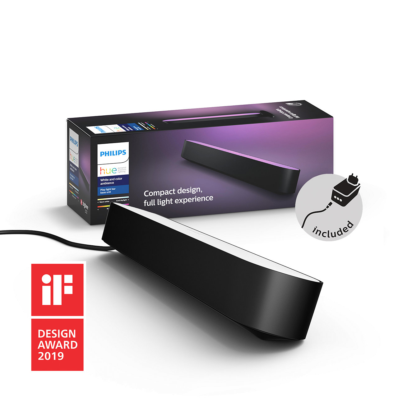 Philips Hue - Play light Bar Starter Pack Black - White & Color Ambiance