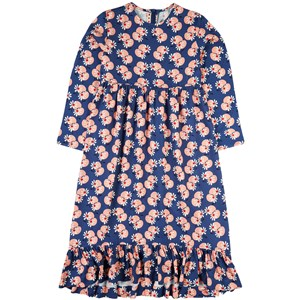 Marni Floral Print Long Sleeve Klänning Blå 6 år