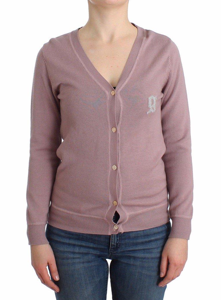 John Galliano Women's V-neck Wool Cardigan Pink SIG12102 - XS