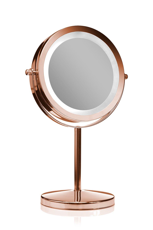Gillian Jones - Makeup Mirror w/LED - Rosegold