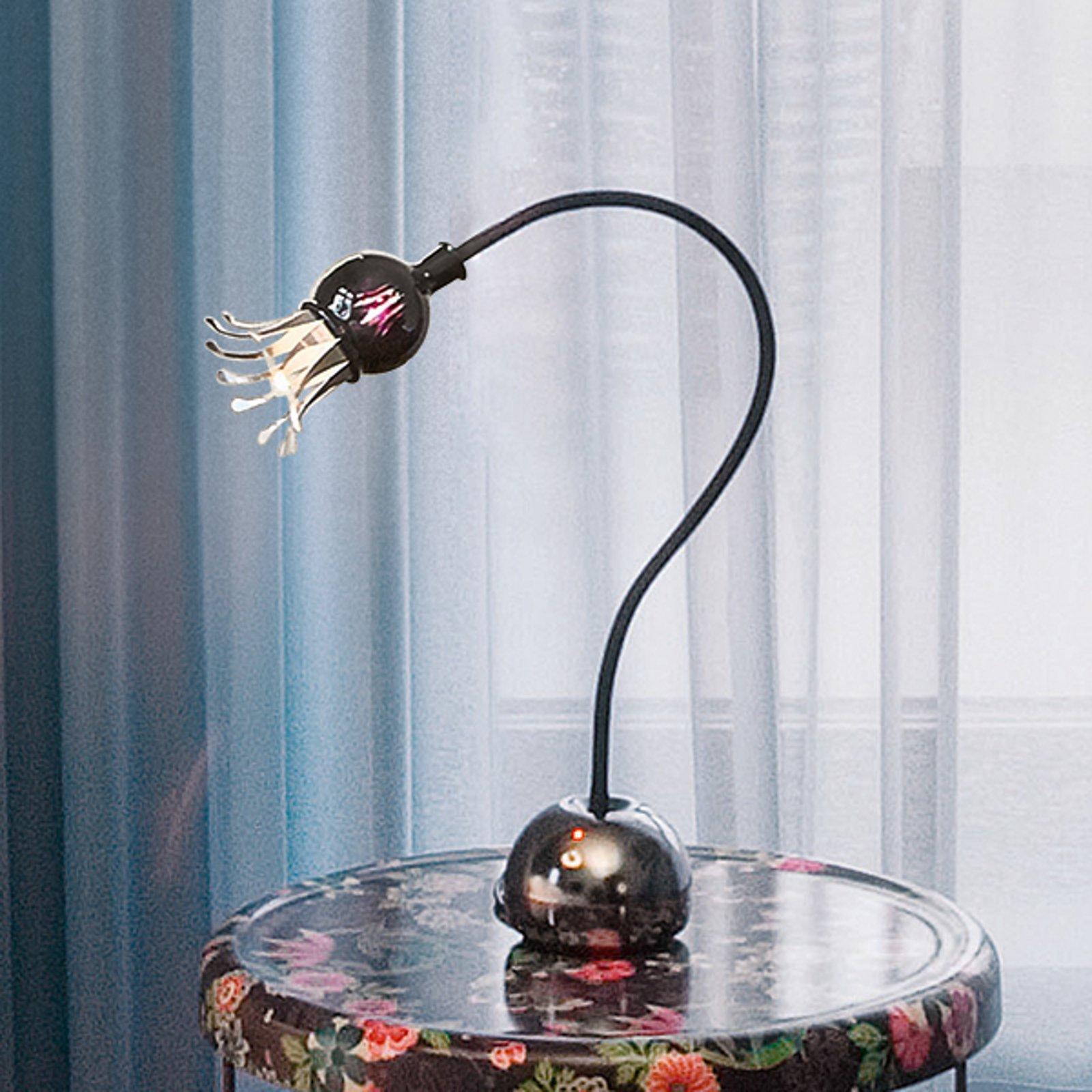 Bøyelig bordlampe Poppy med blomstereffekt