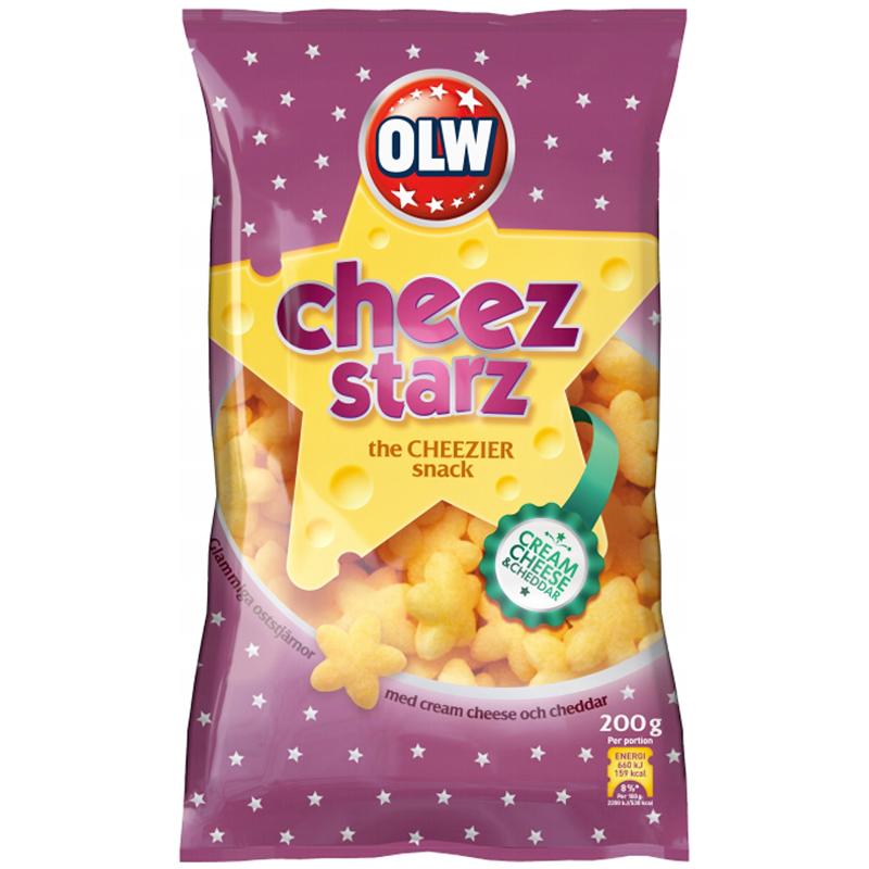 """Snacks """"Cheez Starz"""" 200g - 32% rabatt"""