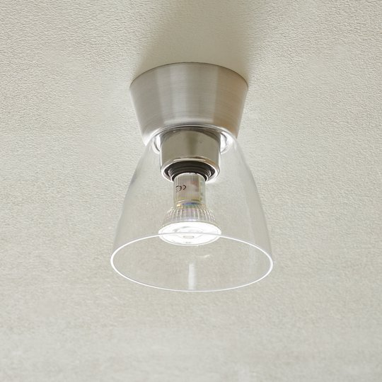 Bizzo-LED-kattovalaisin, alumiini, kirkas lasi