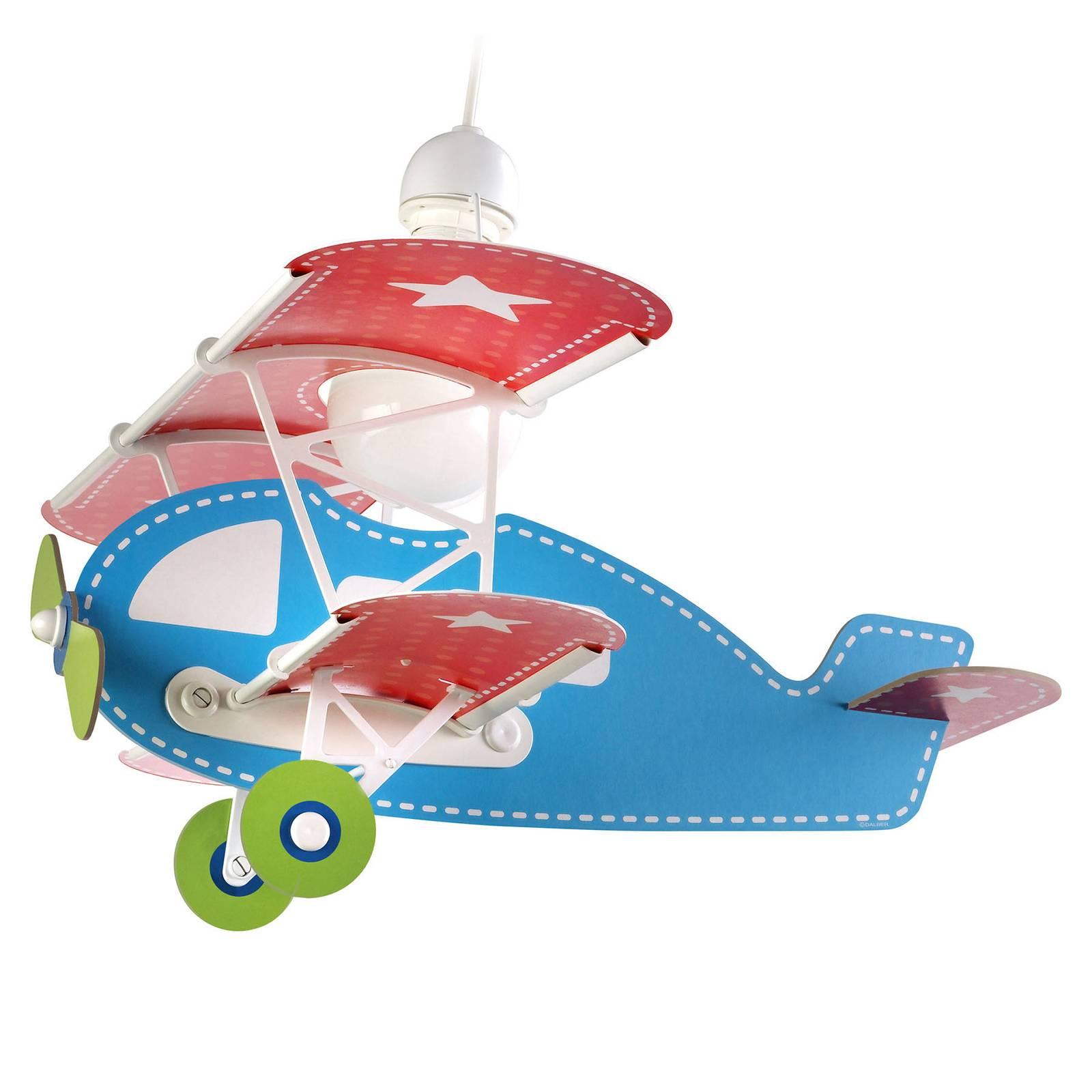 Lastenhuoneen riippuvalaisin Baby Plane, värikäs