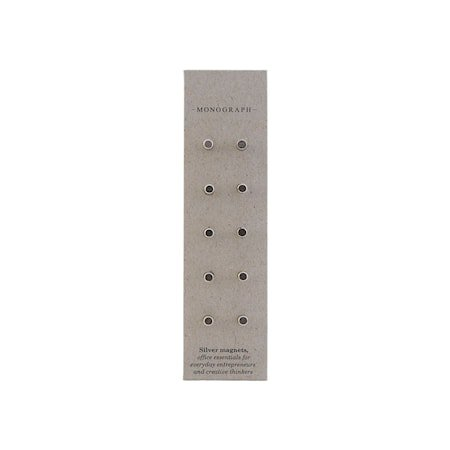 Magnets, Neo, Silver, 10 pcs/pack, l: 1