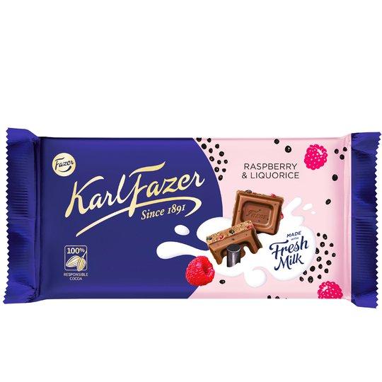 Mjölkchoklad Hallon & Lakrits - 23% rabatt