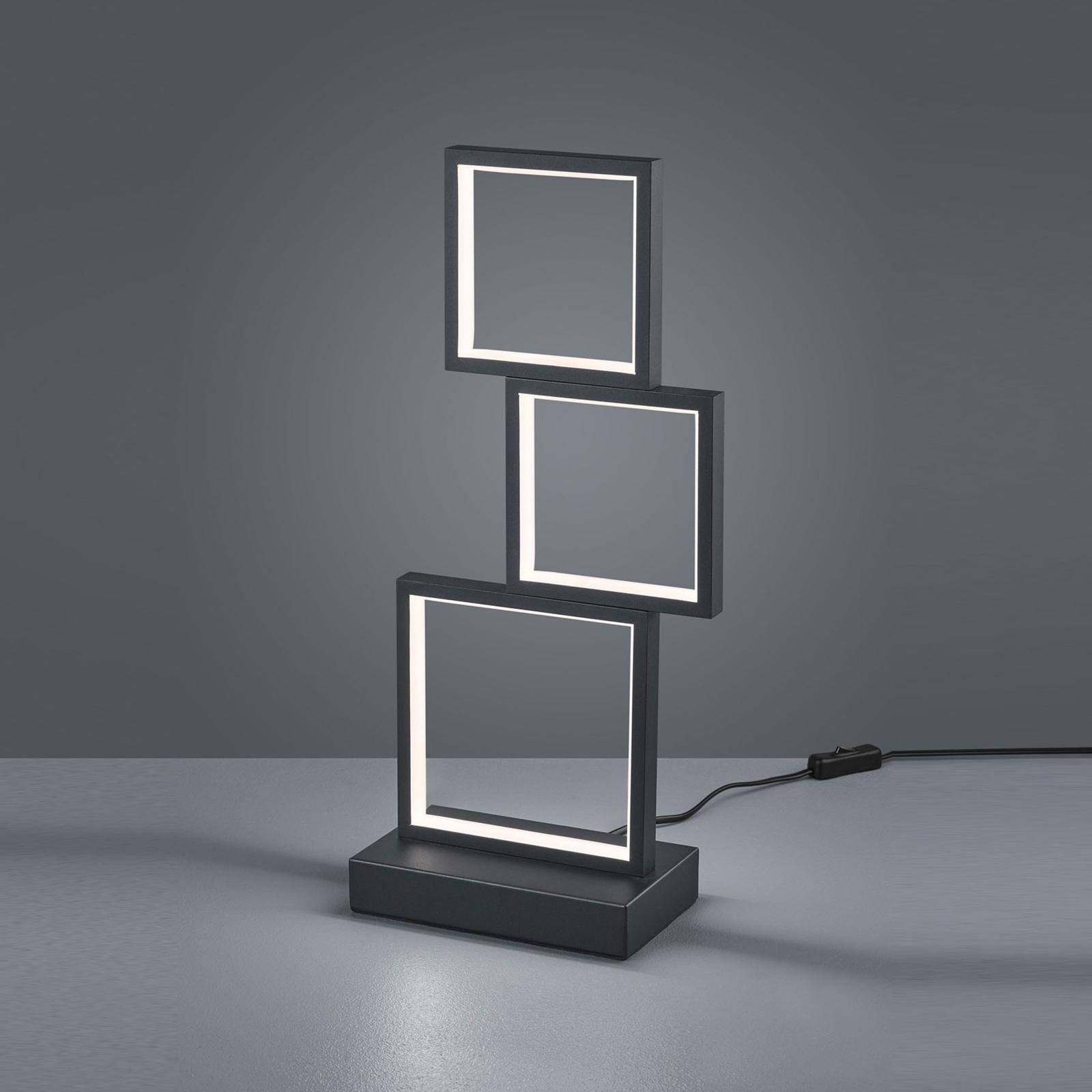 LED-pöytälamppu Sorrento, matta musta
