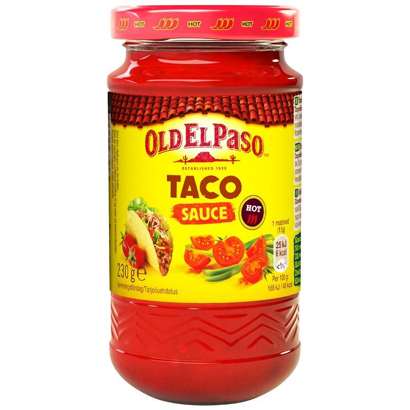 """Tacosås """"Hot"""" 230g - 33% rabatt"""