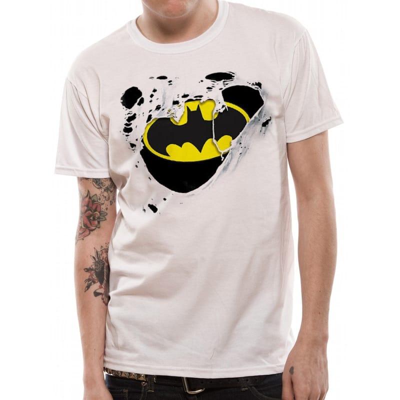 Batman Torn Logo T-Shirt, Small