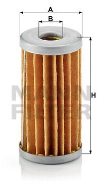 Polttoainesuodatin MANN-FILTER H 42
