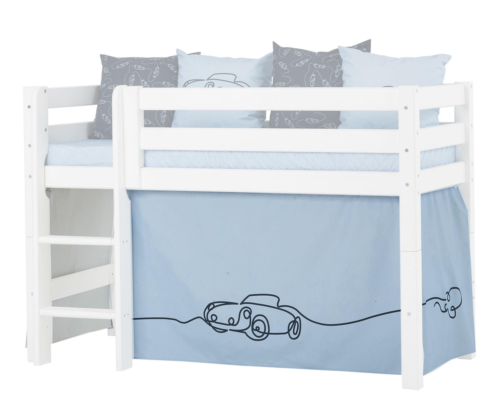 Hoppekids Sänkyverho Cars 70x160 cm, Sininen