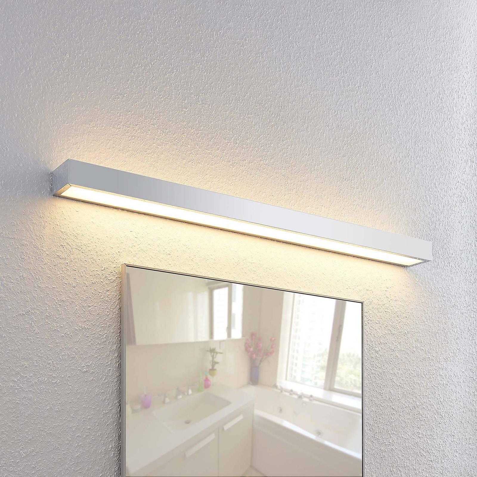 Lindby Layan LED-kylpyhuonevalaisin, kromi, 90 cm