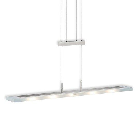 5-osainen LED-riippuvalaisin Linear, nikkeli