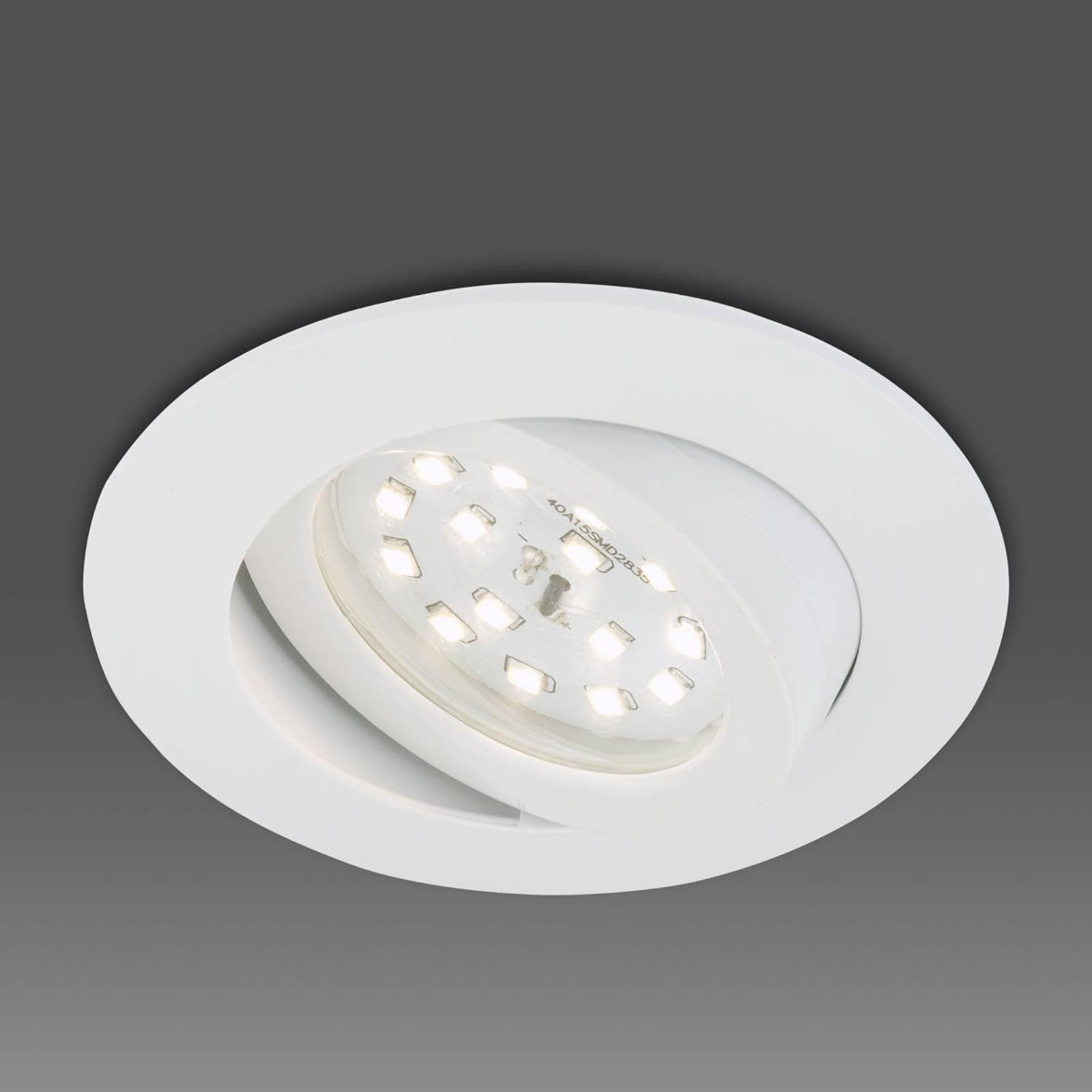 Käännettävä Erik-LED-uppokohdevalaisin valkoisena