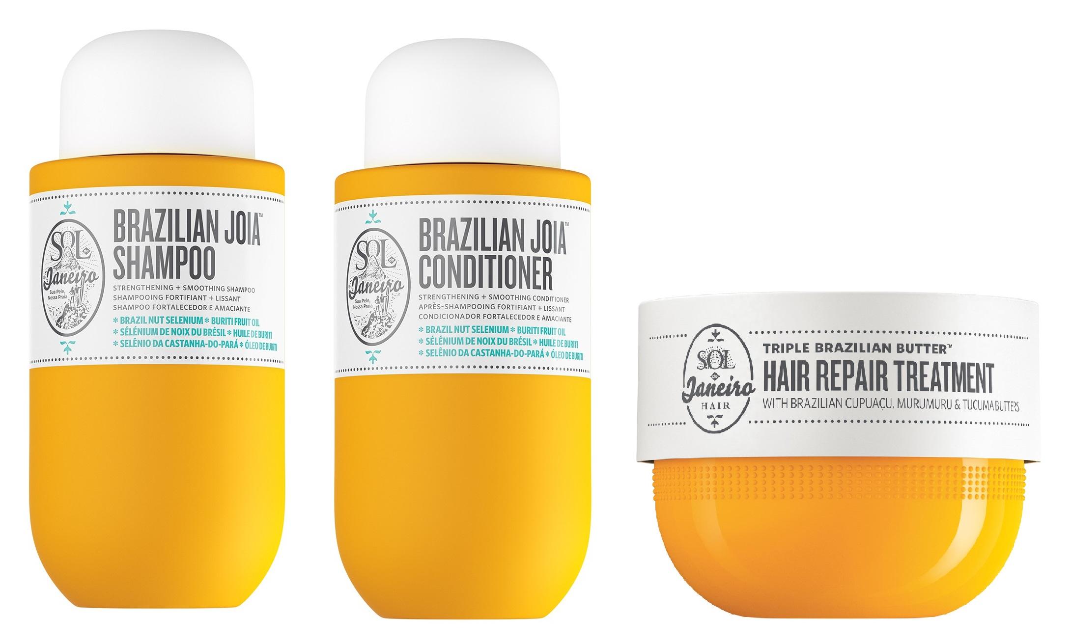 Sol de Janeiro - Brazilian Joia Strengthening + Smoothing Shampoo + Conditioner 295 ml + Triple Brazilian Butter Hair Repair Treatment 238 ml